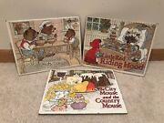 Lot Of 3 Jaymar 12 Piece Puzzles Goldilocks, City And Country Mouse, Riding Hood