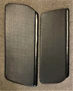 914 Upholstered Door Panel Black Late Basket Weavewith Clips Ready To Install