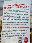 Steel Sign No Trespassing Loitering Soliciting Warning Keep Out 36x24 Usa