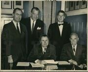 1965 Press Photo Walter Rody Poses With Metropolitan Crime Commission Officers