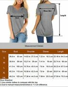 Gibly Womens Casual V Neck T Shirt Short Sleeve Basic Tee Tops Loose Summer Blou