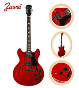 Zuwei Coil-tap Knob 335 Semi Hollow Electric Guitar 3a Quilted Maple Top