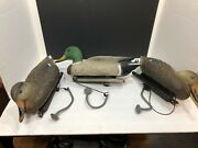 3 Vintage Carry Lite Mallard Duck Decoys - Made In Italy