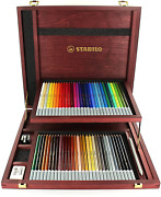 Premium Colouring Pencil - Stabilo Carbothello Pastel Pencil Wooden Box Of 60 And