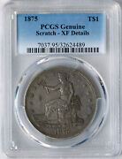 1875 P Trade Dollar Type 1 Obv Type 1 Rev Pcgs Xf Details Extremely Rare