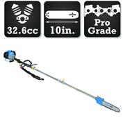 Blue Max Gas Powered Pole Saw 10 Inch Bar 32.6cc 2 Cycle Tree Cutter Trimmer New