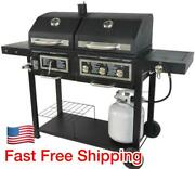 Blossomz Grill Bbq Dual Fuel Combination Charcoal/gas Outdoor