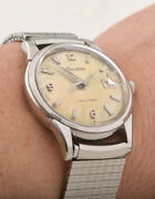 Vintage Men Bulova Automatic With Date And Box - Swiss Made–3 Month Warranty