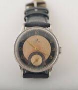 Vintage Rare Omega Bullseye Two Tone Dial Swiss Watch With Three Months Warranty