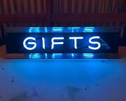 Vintage Neon Gifts Sign Restored Rewired Department Store 1950s