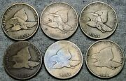 Lot Of 6 1857 Flying Eagle Cents Penny L@@k ---- Nice Type Coin Lot ---- R683