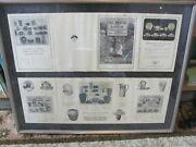 Rare Saturday Evening Girls Seg Paul Revere Pottery 2 Framed Catalogues W/prices