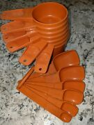 Vintage Matching Tupperware Measuring Cups And Spoons Tangerine