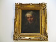 19th Century Or Older Restoration Project Masterful Portrait Antique Mystery
