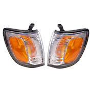 Fits Toyota 4runner 99-02 Set Of Park Clearance Lights Lamps W/ Housing Assembly