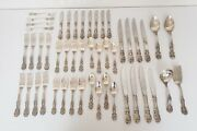 Reed And Barton Francis I 1 Sterling Silver Flatware Set Dinner Service For 8andndash48pc