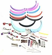 80's Vintage Hair Clips Banana Clips Barrettes Claws Plastic 50+ Pieces