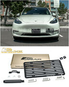 Eos Plate For 20-up Tesla Model Y | Full Sized Tow Hook License Plate Bracket