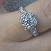 10270 Hearts On Fire G/vs 1.52ct Natural Diamonds 18k White Gold Ring