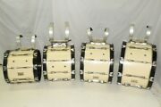 4 Pearl Championship Marching Bass Drums Drumline 18 20 22 24 + Harnesses