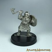 Metal Dwarf Warrior With Axe Lotr - Warhammer / Lord Of The Rings X5295