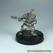 Metal Dwarf Warrior With Axe Lotr - Warhammer / Lord Of The Rings X5973