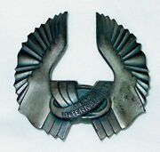 Rare Texas International Airlines Pilots Hat Wings Pin-sterling Silver -22 Grams