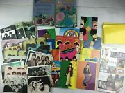 Lot Of 35 Vintage The Beatles Post Cards Greeting Cards Stickers