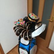 12-piece Set Golf Clubs + Super Rare Caddy Bag From Japan Used Mizuno Cleveland