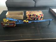Old 1920s Tin Wind Up Wolverine Over And Under Amusement Park Ride W/car + Box