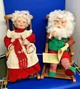 Santas Best 17 Animated Mr And Mrs Claus In Rocking Chairs Christmas Ships Free