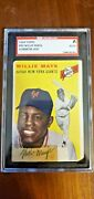1954 Topps Autographed 90 Willie Mays, Hof, Signed On Card Auto, Sgc