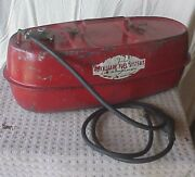 Vintage Tescher Aux Fuel Systems 5 Gal Gas Tank For Outboard Motor Boat