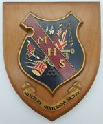 Military Historical Society Mhs Plaque Made In Great Britain
