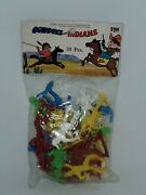 Nos Vintage Multicolored Cowboys And Indians 30pc. Play Set New Old Stock