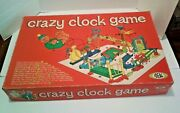 Vintage 1964 Ideal Crazy Clock Game Card Contraption Building 1 - 6 Players