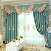 European-style Window Curtains Tulle Valance Embroidered Elegant Home Decoration