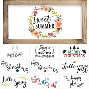 Farmhouse Wall Decor Signs With 10 Interchangeable Sayings Perfect For Summer De