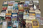 50 Quilting Books Patterns Guides Idea Template Lot