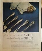 1950wallace Sterling Silver Grand Colonial Baroque Sir Christopher Patterns Ad