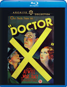 Doctor X New Blu-ray 1932 Lionel Atwill Fay Wray Color + Bw Warner Archive