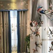 Embroidered Window Screens Curtain Tulle Valance Home Decoration Jacquard Blinds