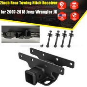 2and039and039 Rear Trailer Receivers Towing Hitch For 07-18 Jeep Wrangler Jk Jku Unlimited