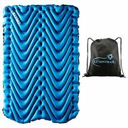 Klymit Double V Sleeping Pad 2 Person Inflatable Pad For Camping Bundle With A L