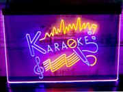 Karaoke Microphone Signs Pub Bar Club Dual Color Led Neon Sign With Box Sale