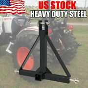 3point Trailer Hitch Tow Drawbar 2 Adapter Attachment For Category 1 Tractor Us