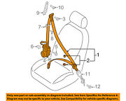 Audi Oem 16-17 A7 Quattro Front-seat Belt Assembly Right 4g8857706lckm