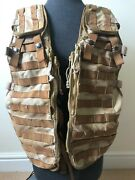 British Army Issue - Desert Tactical Load Carrying Vest Dpm Waistcoat -base Only