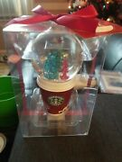 New Starbucks 2006 Christmas Holiday Snow - Globe Ornament To - Go Cup Free Sh