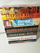 7 First Edition Stephen King Books Hardcover With Dust Jackets Mr. Mercedes Etc